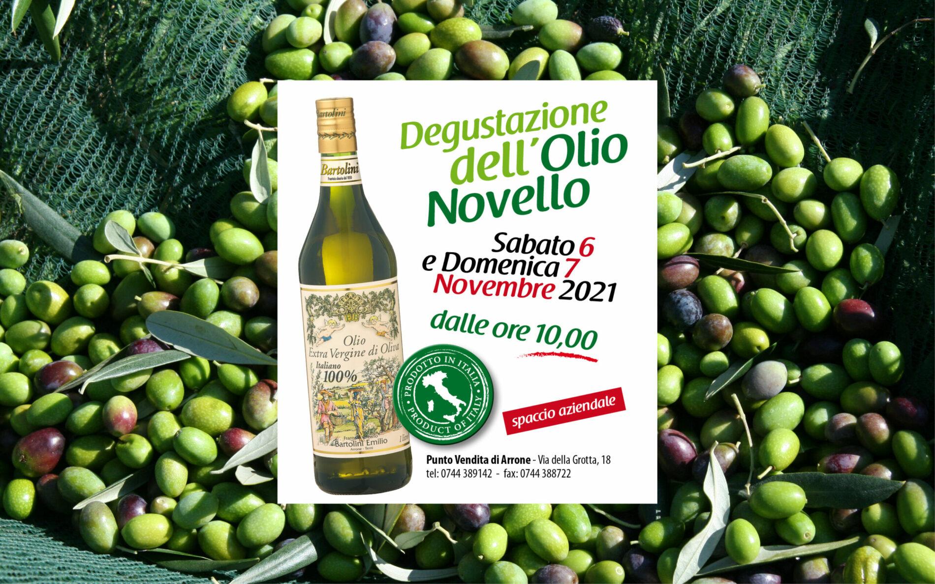 Olio Novello Bartolini Degustazione